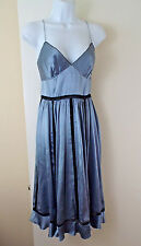 NEW***ANTHROPOLOGIE Sz 6 silk SLIP DRESS blue!!