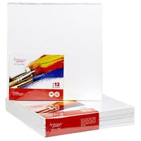 """CANVAS PANELS 12 PACK - 10""""X10"""" SUPER VALUE PACK Artist Canvas Panel Boards f..."""