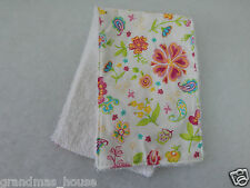 Grandma's Garden Burp Cloth - 1 Only Towelling Back GREAT GIFT IDEA!!