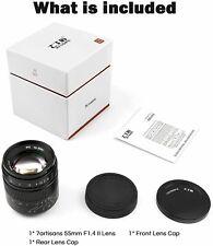 7artisans 55mm F1.4 II Portrait Manual Lens For Micro 4/3 M4/3 MFT Camera