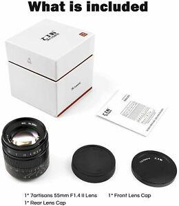 7artisans 55mm F1.4 II V2.0 Portrait Manual Lens For Sony E mount E-Mount Camera