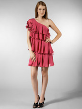 REBECCA TAYLOR 'Silk Chiffon One Shoulder' DRESS. Size US2 (AU8).