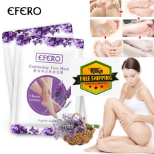 EFERO 2PC=1PAIR FEET EXFOLIATING FOOT MASK SKIN CARE PEELING DEAD SKIN FEET MASK