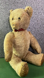 Uralter schöner Teddybär aus Dachbodenfund Sitzend 28cm hoch, stehend 35cm hoch