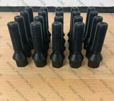 10 X M14 X 1.5 45MM BLACK TAPERED EXTENDED ALLOY WHEEL BOLTS  VW AUDI