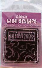 NEW INKADINKADO CLEAR STAMP THANKS BACKGROUND  98867