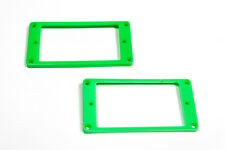 Marcos para pastillas humbucker curvados verdes -Green Curved Mounting Rings Set