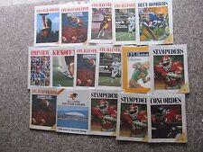 96 B.C. Lions Home Programs, mostly 1972-1987,  plus more.