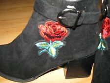 Unbranded Floral Suede Boots for Women
