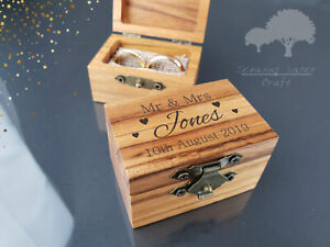 Personalised Wedding Ring Box, Custom Ring Bearer Box, Proposal Box, Gifts