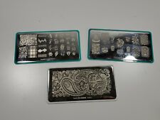 Maniology M083 New Year & M017 Rebel Yell & What's Up A003 Paisley Nail Plates