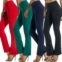 Sexy Women High Yoga Pants Wide Leg Flared Slimming Sports Leggings Trousers X72