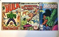 HULK BATTLE ISSUES LOT OF 3!!!  Hulk #152 - Fantastic Four #166 - Daredevil #163