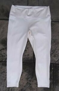 NWD Size 1X 16/18 Fabletics Iridescent Pale Pink Shimmery High Waist Luxe 7/8