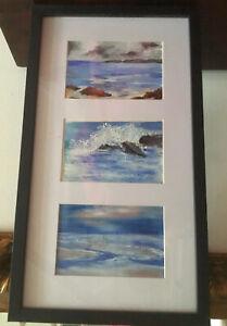 Lovely Framed Original Artwork Beachside Scenes