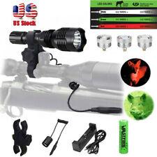 Red Green White 3 Color Predator Hog Varmint Hunting Flashlight Light Kit Mount