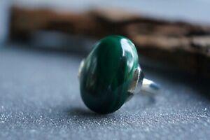 Malachite Ring Gemstone Top Grade Fine Handmade Sterling Silver Multiple Size