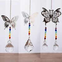 Crystal Suncatcher Butterfly Hanging Pendant Light Prisms Chandelier Home Decor