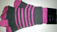 Fashion 2 in 1 Magic Gloves Set in Pink and Grey (one size fits all)