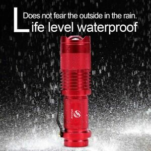 Mini LED Flashlight Spot Torch Waterproof Outdoor Lamp Zoomable Camping Lantern