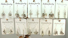 Lot of (10) Pairs Earrings MEDIEVAL PRINCESS PARTY WholesaleRoyal Knights Queen