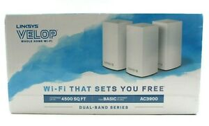 Linksys Velop AC3900 Dual-Band Whole Home Wi-Fi System 3-Pack VLP0103