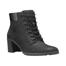 Women's Timberland Allington 6in Lace up Rounded Toe Ankle BOOTS in Black UK 6 / EU 39