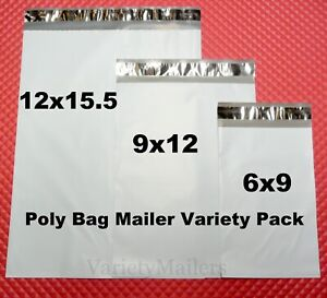 21 Poly Mailer Variety Pack ~ Small Medium Large Sizes ~ Shipping Envelope Bags