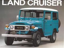 Print.  Aqua/White 1979 Toyota FJ Land Cruiser auto ad