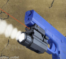 Pistol Tactical Flashlight Red Laser Sight Combo for Glock G17 G19 G22 G23 etc