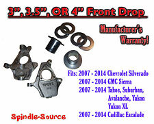 "2007 - 2016 Chevy / GMC Trucks and SUVs Adjustable 3"" 3.5"" or 4 INCH FRONT DROP"
