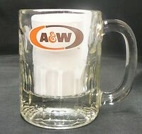 SHORT A & W ROOT BEER CLEAR GLASS MUG