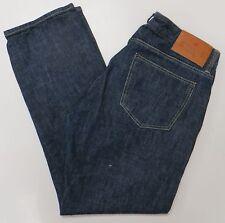 Shockoe Jeans Dark Indigo Size 34 x 28 Button Fly USA Nice Pants Premium Denim