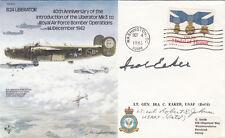 RAF B24 FDC Signed Lt General Ira Eaker , Lt Col R Johnson USA Pilot WW11 Ace 27