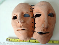 Bipolar Schizophrenic Painbody ego leatherface mask vtg art ooak clay