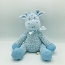 """First And Main Jingles Blue Giraffe Baby Rattle 2773 9"""" Plush Lovey Crib Toy"""
