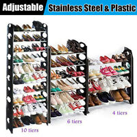 Multi Layers Shoe Rack Space Saving Shoes Tower Shelf Cabinet Storage Organizer