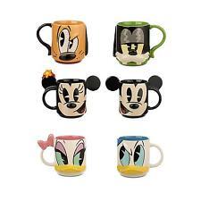 Disney Mug Set of 6 Mickey Minnie Pluto Goofy Donald Daisy
