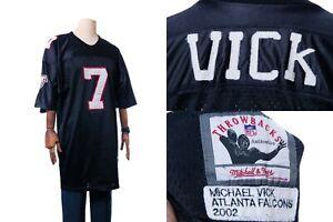 NFL Reebok Atlanta Falcons Michael Vick Authentic Jersey Size 54 Black # 7