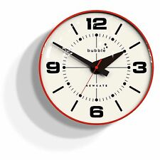 ewgate Bubble Wall Clock Retro Style Acrylic Lens - Red Body -Free Fast Shipping