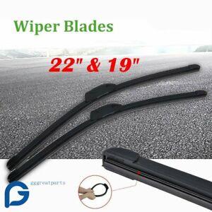 "22""+19"" Windshield Wiper Blades Premium Hybrid silicone J-Hook High High Quality"