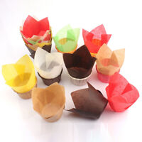 50Pcs Cupcake Wrapper Liners Muffin Tulip Case Cake Oil-proof Paper Baking Cup