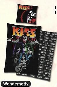 Kiss Bettwäsche 135 x 200 cm 100 % Baumwolle  Wendemotiv
