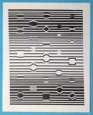 Victor VASARELY X Offset Originale 1973 Op Art Optique Cinétique
