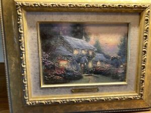 Thomas Kinkade limited edition print (certificate of authenticity rear).