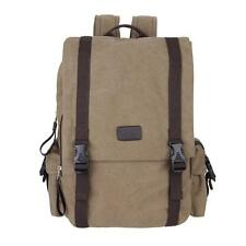 Korea Men Vintage Canvas Backpack Hiking Travel Messenger Bag Rucksack