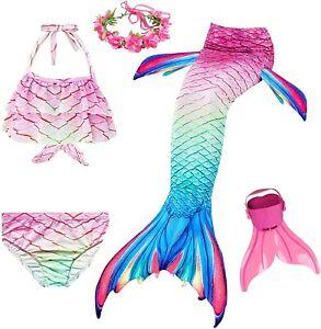 NMY Coda da Sirena per Nuotare Costumi Bagno 5pcs Mermaid 110, Style 3