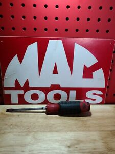 """MAC PNRB4CR 4"""" Slotted/Flat Screwdriver Red Handle Good Condition SHIPS FREE"""