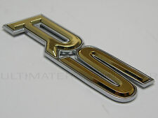 Chrome Gold 3D RS CAR BADGE GRILL Boot PORTELLONE Wing Bici Porta Frigo finestra bit