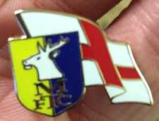 MANSFIELD Town ST George Bandiera ONDULATA smalto pin badge